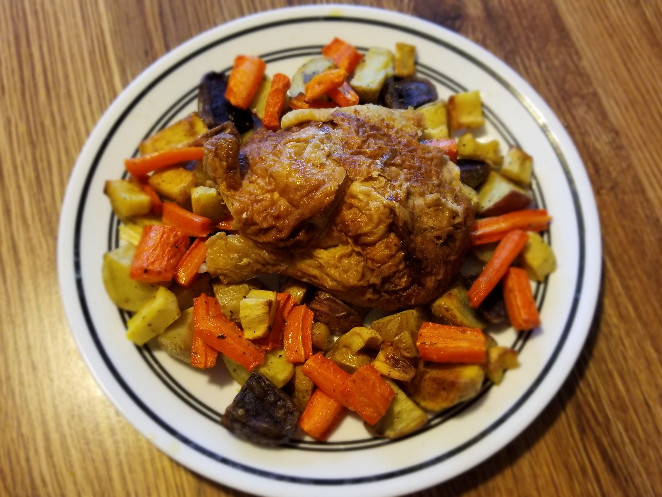 Anti Cancer Recipe Of The Month Greek Roasted Chicken And Root Vegetables
