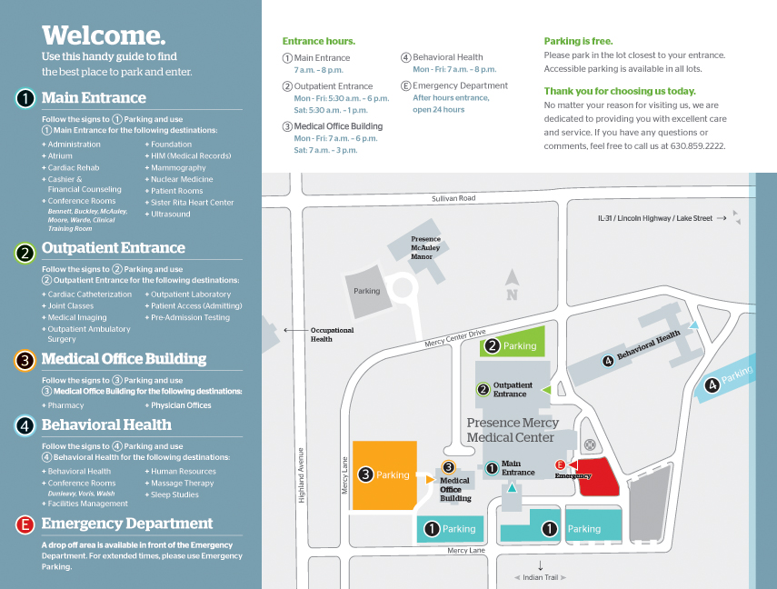 Visitor Information | AMITA Health Mercy Medical Center Aurora
