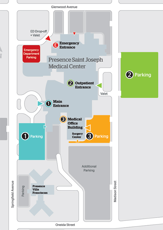 Visitor Information | AMITA Health Saint Joseph Medical